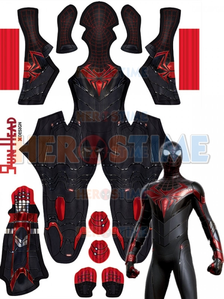 PS5 Spider-Man Miles Morales Advanced Tech Adults and Kids Costume