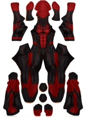 2021 Traje de Spider-Man personalizado más nuevo Traje de Spiderman rojo y negro