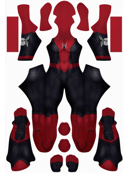 Tom Holland Spider-Man No Way Home Costume with Female Muscle
