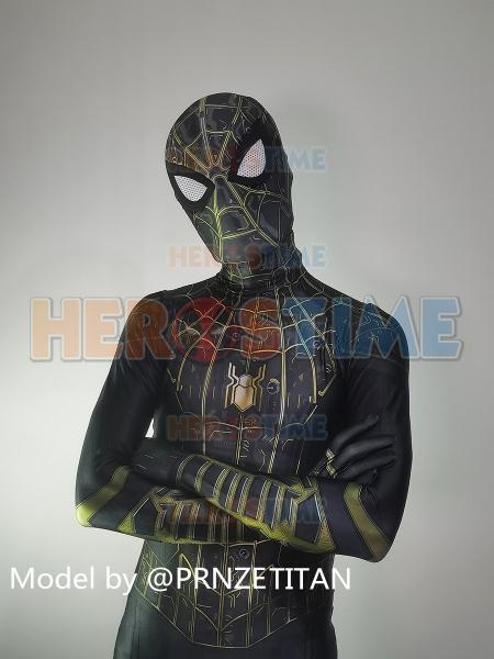 Spider-Man No Way Home Traje negro Traje de Spider-Man más nuevo