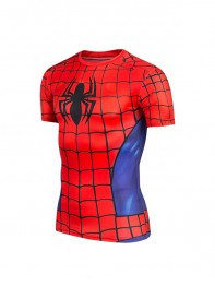 Classic Spider-man Superhero Pattern Quick Dry Tee