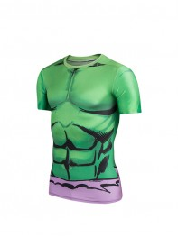 The Hulk 3D Mucle Pattern Superhero Dry Quick Sportswear