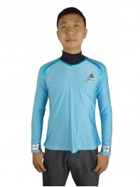 Star Trek Lake Blue Spandex Two-piece Coat