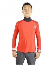 Star Trek Red Spandex Two-piece Superhero Coat