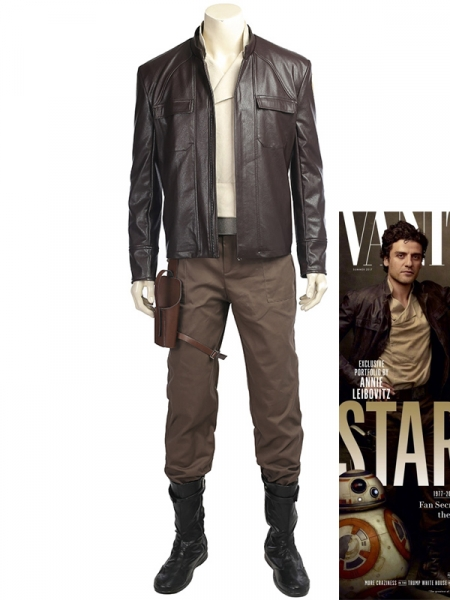 Star Wars Costume Star Wars 8 Poe Dameron Cosplay Costume