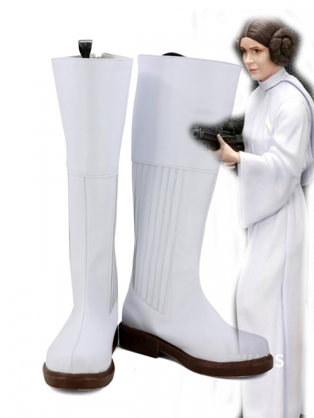Star Wars Princess Leia White Cosplay Boots