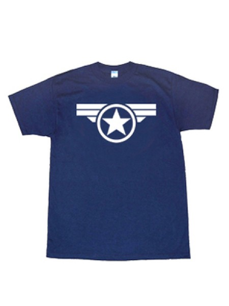 Captain America Shield Star Pattern T-shirt