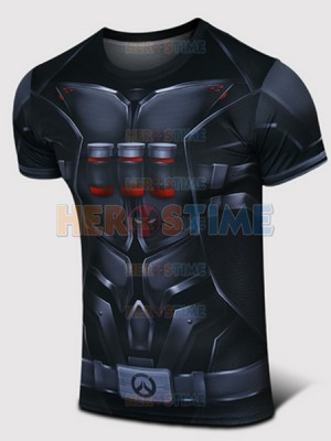 Overwatch Reaper Spandex/Lycra Cosplay T-shirt