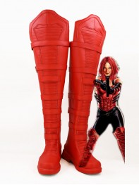 Captain America 5 Black Widow Red Cosplay Boots