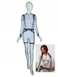 Black Widow Costume White Suit 2020 Movie Superhero Costume