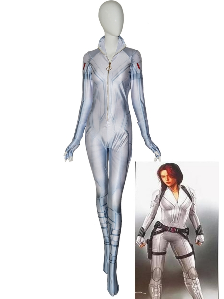 Black Widow 2020 New Costume White Suit Adult and Kids