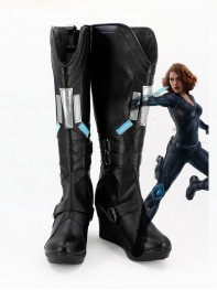 Avengers: Age of Ultron Black Widow Black Female Cosplay Boots