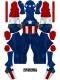Captain America Costume Classic Captain America Version No Boots