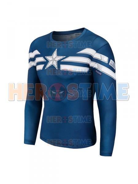 First Version Captain America Superhero Dry Quick Top