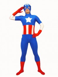 The Avengers Captain America Spandex Superhero Costume