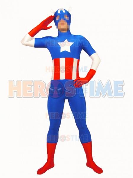 The Avengers Captain America Spandex Superhero Costume