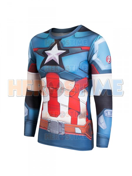 Newest Captain America New Men's 3D Quick Dry T-shirt