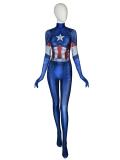 Captain America Costume Avengers: Endgame Female Costume No Head Piece