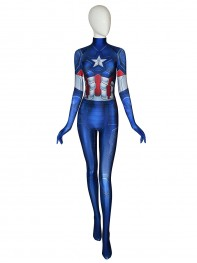 Captain America Costume Avengers: Endgame Female Costume No Head Piece