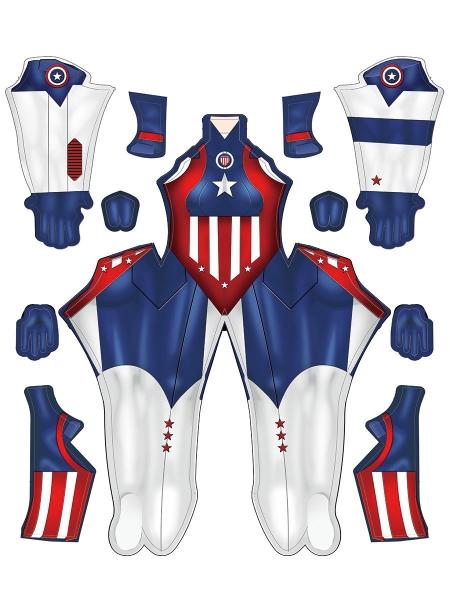 Newest Comics Captain America Cosplay Costume Female Version