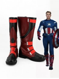 The Avengers Captain America Superhero Mens Cosplay Boots