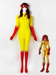 Firestar Spandex Superhero Costume