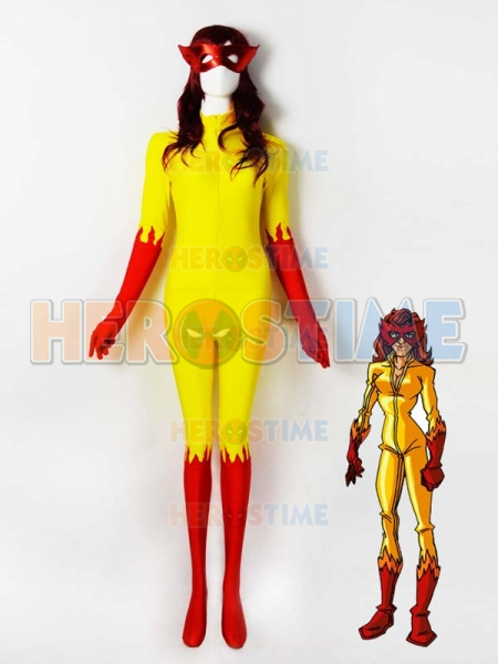 Firestar Spandex Superhero Costume