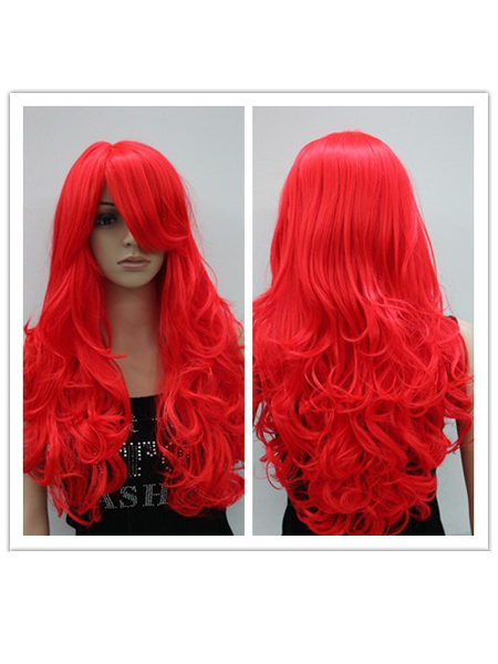 Firestar Female Superhero Long Fiber Wig