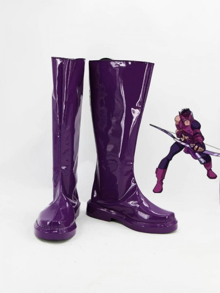Hawkeye Purple Superhero Boots