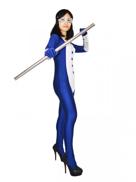 Navy Blue Mockingbird Spandex Superhero Costume