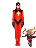 MsMarvel Red Spandex Superhero Costume