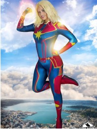 Captain-Marvel Movie Version 3D Printing Superhero Costume