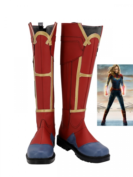 Captain Marvel Shoes Captain Marvel Cosplay Botas