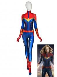 Captain Marvel Costume Carol Danvers Halloween Cosplay Costume