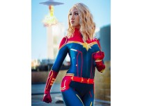 Captain Marvel Costume Carol Danvers Halloween Cosplay Costume