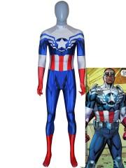 Captain America Costume Captain America Sam Wilson Falcon Suit