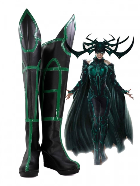 Hela Cosplay Shoes Thor: Ragnarok Boots Leotard Style