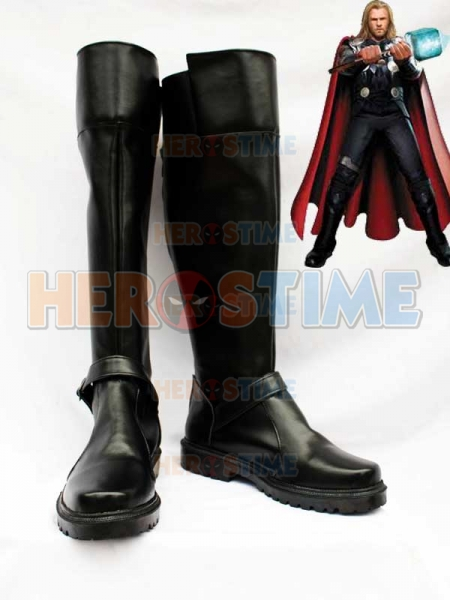 Thor Black Superhero Cosplay Boots