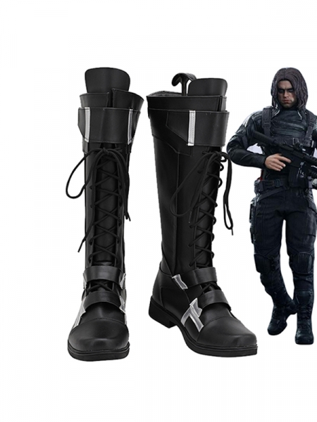 Captain America 2 Cosplay Winter Soldier Cosplay Boots