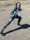 Marvel Future Fight Domino X-force Cosplay Costume