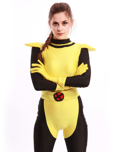 Traje de Kitty Pryde de X-Men en color Amarillo y Negro