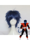 X-men Nightcrawler Short Blue & Black Wig