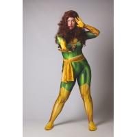 2018 Traje de X-men Phoenix (Jean Gray) Dyesub Disfraz de Superhéroe para Chicas