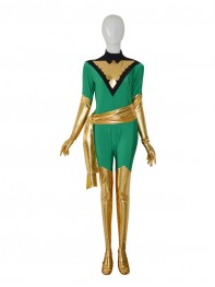 Jean Grey Deep Green Phoenix X-men Superhero Costume