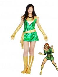 Jean Grey Phoenix Shiny Metallic Superhero Costume