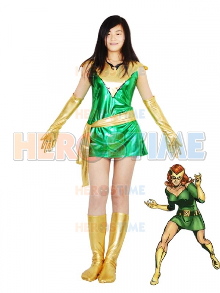 Jean Grey Phoenix Shiny Metallic Superhero Costume