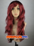 Phoenix Jean Grey Superhero Claret Long Curly Wig