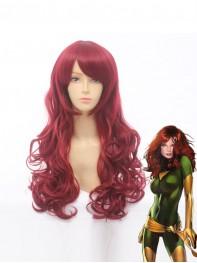 Phoenix Jean Grey Wine Red Curly Superhero Wig