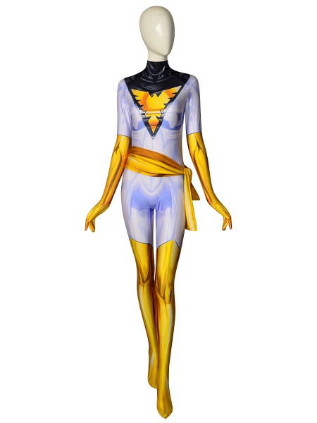 White Phoenix Suit X-Men Phoenix Cosplay Costume