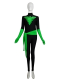 Black & Green X-Men Phoenix Spandex Superhero Costume